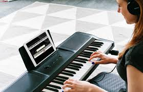 piano with light up keys light keyboard the one smart piano