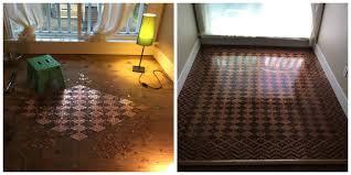 diy floor from pennies how to make floor design with pennies