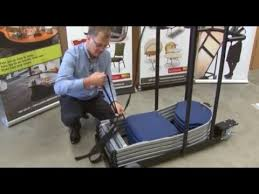 Mity Lite Chair Mitylite Swiftset Folding Chair Cart Youtube