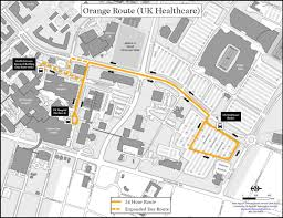 uky map orange route uk healthcare uk transportation services