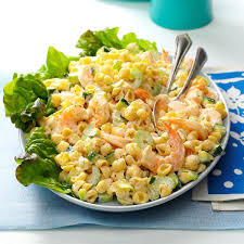 chilled shrimp pasta salad recipe taste of home