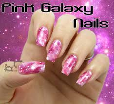 pink galaxy nails with tutorial lucy u0027s stash