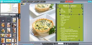logiciel de recette de cuisine aide mise en page créative 3 le livre de recettes monalbumphoto