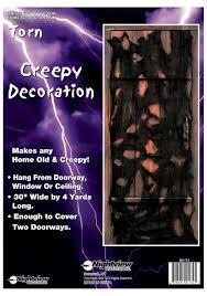 Halloween Shop Decorations Torn Creepy Door Decoration Affordable Halloween Decorations