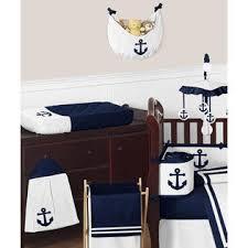 sweet jojo designs anchors away nautical baby bedding 9pc crib set
