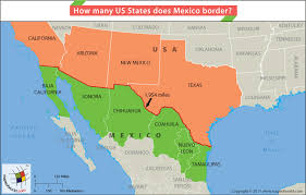 map us mexico border states how many us states does mexico border answers