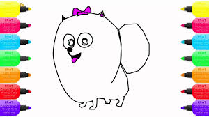 how to draw coloring pages coloring pages gidget the secret life of pets how to draw a