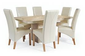 Cream Leather Dining Room Chairs Home Design - Cream dining room sets