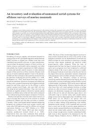 an inventory and evaluation of unmanned aerial systems for