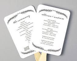 Wedding Program Fans Cheap Printable Wedding Program Template Order Of Service Floral