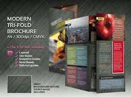 tri fold brochure template free indesign a4 tri fold brochure