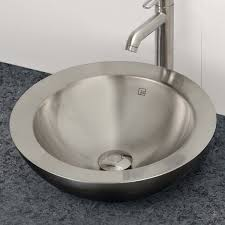 decolav 1228 p round above counter stainless steel bathroom sink