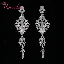 wedding earrings drop fashion wedding earrings inlay shinning rhinestone big drop