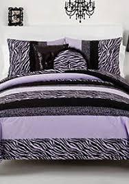 Zebra Bedroom Set Seventeen Zebra Darling Purple Twin Comforter Set 66 In X 86 In