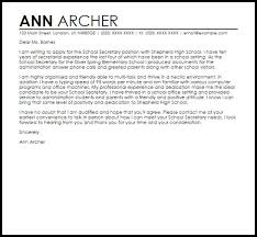 cover letter for a secretary position