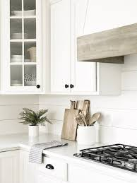 shiplap kitchen backsplash with cabinets 7 easy and inexpensive upgrades to your kitchen