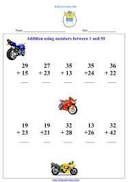 addition up to 50 worksheets kids activities