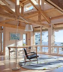 whitewashed ceiling beams family room traditional with wood mirror