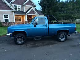 1983 Chevy Shortwide 4x4 - 1983 chevy 1500 c10 k10 4x4 swb blue good condition solid truck
