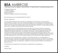 cosmetology instructor cover letter free cosmetology resume