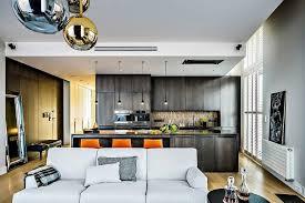 d馗o cuisine ouverte design interieur déco cuisine ouverte salon moderne suspensions