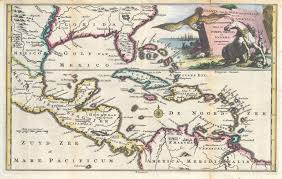 Map Of The Caribbean File 1747 Ruyter Map Of Florida Mexico And The West Indies