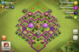 layout coc town hall level 7 clash of clans town hall level 7 trophy base