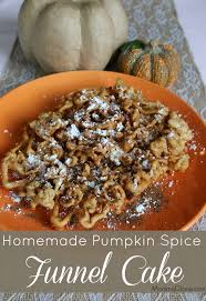 homemade pumpkin spice funnel cake mommadjane