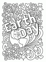 celebration earth day coloring page for kids coloring pages