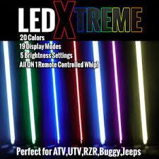 led light whip for atv led light whip 20 color changing options on 6 whip atv utv w