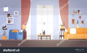 living room interior home modern apartment stock vector 561867685