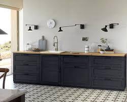 cuisine bois beton cuisine bois noir stunning cuisine dessin cuisine bois noir mat as