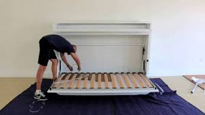 Build Twin Murphy Bed Genio T Twin Wall Bed With Table Assembly Guide Youtube
