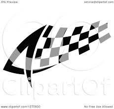 Checkered Racing Flags Clipart Of A Black And White Tribal Checkered Racing Flag 2