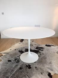 pre used genuine original knoll saarinen tulip table 120cm white