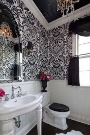 wallpaper bathroom designs 208 best pretty bathrooms images on powder room