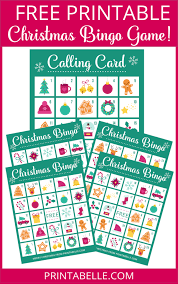 printable christmas bingo cards pictures free printable bingo game for christmas party printables games