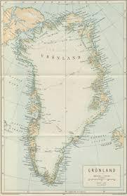 Greenland Map 1920 Map Of Greenland From Salmonsens Konversationsleksikon