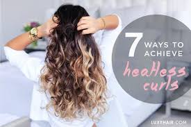 heatless hairstyles for thin hair 7 ways to get heatless curls luxy hair