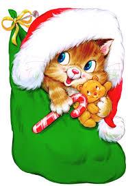 christmas clipart kitty pencil color christmas clipart kitty