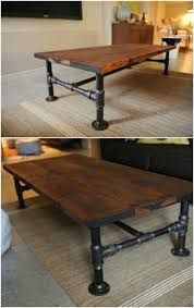 Diy Industrial Dining Room Table Best 25 Industrial Coffee Tables Ideas On Pinterest Industrial