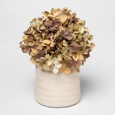 hydrangea white artificial hydrangea in ceramic pot large white threshold