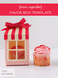 diy favor box template printable mini cupcake favor box bohemiangirly cupcake