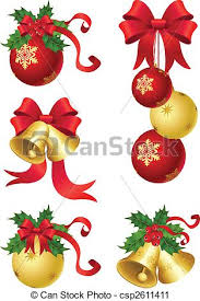 vector clip art of christmas decor vector illustrations