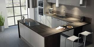 cuisine noir et rouge davaus net u003d cuisine rouge et gris moderne avec des idées