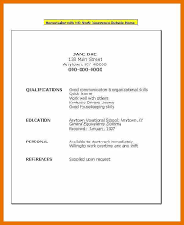 Flight Attendant Resume No Experience Job Resume Examples No Experience Resume Example And Free Resume
