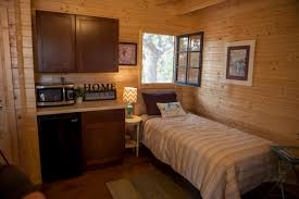Micro Homes Interior Fighting Homelessness In Austin One Tiny House At A Time Kut