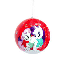 my pony 4 pack ornaments set brony t