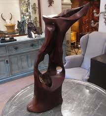 abstract wood carving an abstract wood carving in objects and curios