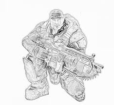 gears of war coloring pages coloring pages pinterest